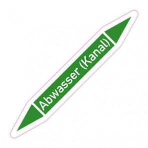 Aufkleber Rohrkennzeichnung · Rohrleitungskennzeichnung Abwasser (Kanal)