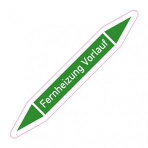 Aufkleber Rohrkennzeichnung · Rohrleitungskennzeichnung Fernheizung Vorlauf