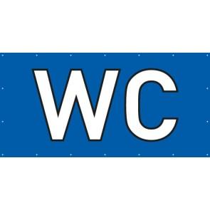 Banner Festivalbanner WC | blau
