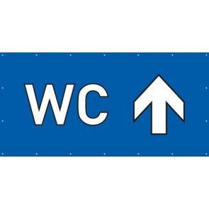 Banner Festivalbanner WC geradeaus | blau