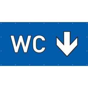 Banner Festivalbanner WC hier | blau