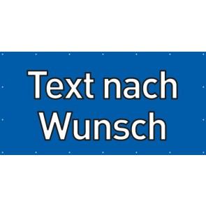 Banner Festivalbanner Wunschtext | blau