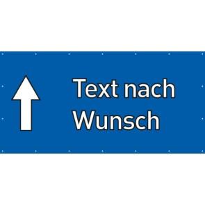 Banner Festivalbanner Wunschtext geradeaus | blau