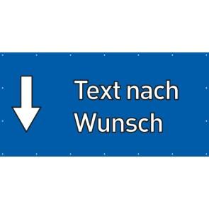 Banner Festivalbanner Wunschtext hier | blau