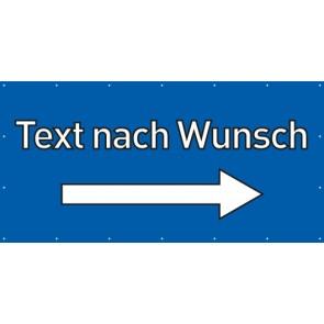 Banner Festivalbanner Wunschtext rechts | blau