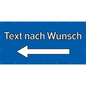 Banner Festivalbanner Wunschtext links | blau