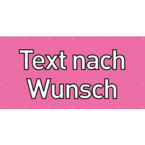 Banner Festivalbanner Wunschtext | rosa