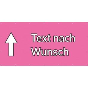 Banner Festivalbanner Wunschtext geradeaus | rosa