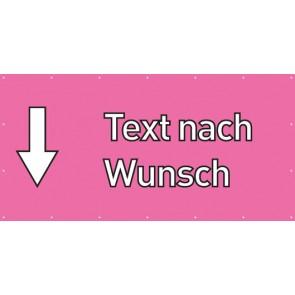 Banner Festivalbanner Wunschtext hier | rosa