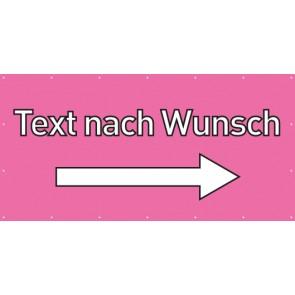 Banner Festivalbanner Wunschtext rechts | rosa