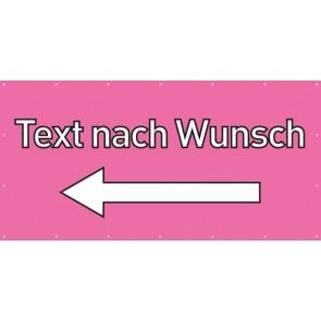 Banner Festivalbanner Wunschtext links | rosa