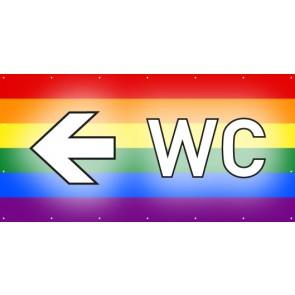 Banner Festivalbanner WC links | regenbogenfarben