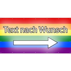 Banner Festivalbanner Wunschtext rechts | regenbogenfarben