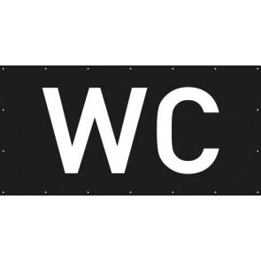 Banner Festivalbanner WC | schwarz