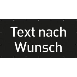 Banner Festivalbanner Wunschtext | schwarz