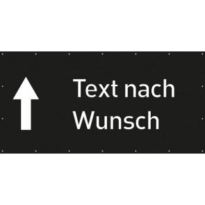 Banner Festivalbanner Wunschtext geradeaus | schwarz