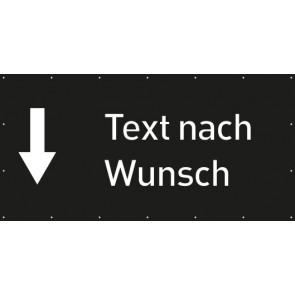 Banner Festivalbanner Wunschtext hier | schwarz