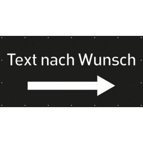 Banner Festivalbanner Wunschtext rechts | schwarz