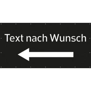 Banner Festivalbanner Wunschtext links | schwarz