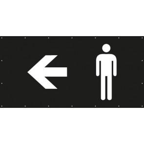 Banner Festivalbanner WC Herren links | schwarz