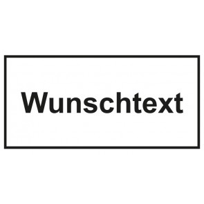 Türschild Wunschtext   weiss · schwarz · MAGNETSCHILD