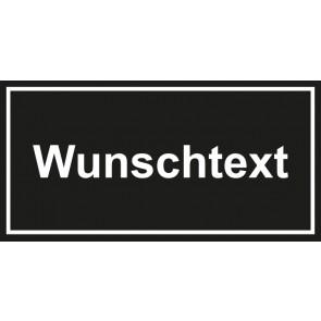 Türschild Wunschtext | schwarz · weiss
