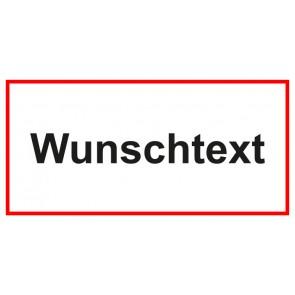 Türschild Wunschtext | weiss · rot