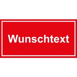 Türschild Wunschtext | rot · weiss