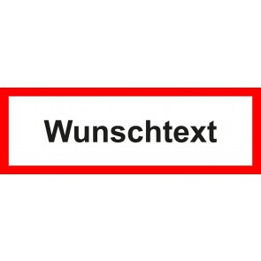Magnetschild Feuerwehrzeichen Wunschtext
