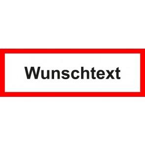 Feuerwehrzeichen Schild Wunschtext