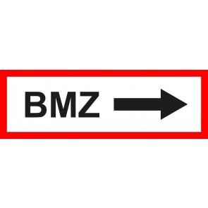 Feuerwehrzeichen Schild BMZ Pfeil rechts