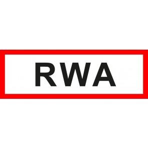 Feuerwehrzeichen Schild RWA