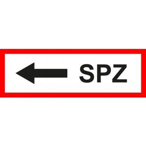 Aufkleber Feuerwehrzeichen SPZ Pfeil links