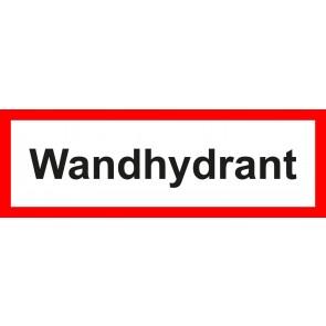 Aufkleber Feuerwehrzeichen Wandhydrant