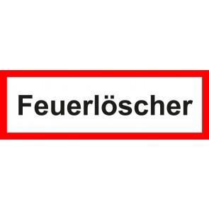 Aufkleber Feuerwehrzeichen Feuerlöscher