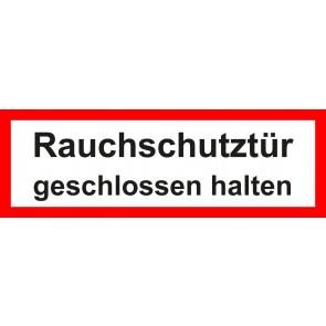 Aufkleber Feuerwehrzeichen Rauchschutztür geschlossen halten