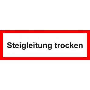 Aufkleber Feuerwehrzeichen Steigleitung trocken