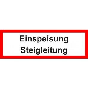 Aufkleber Feuerwehrzeichen Einspeisung Steigleitung