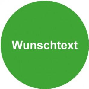 QS Aufkleber Wunschtext · grün