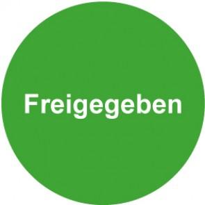 QS Zeichen Freigegeben · grün | Schild