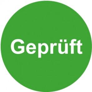 QS Aufkleber Geprüft · grün
