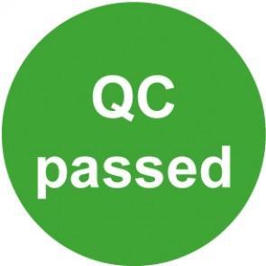 QS Zeichen QC passed · grün | Schild