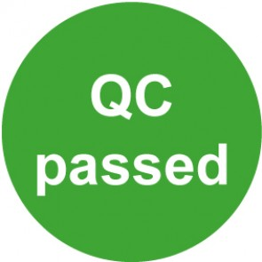 QS Aufkleber QC passed · grün