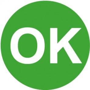 QS Zeichen OK · grün | Schild