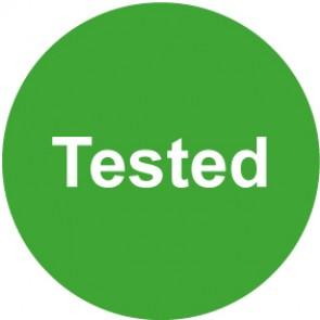 QS Zeichen Tested · grün | Schild