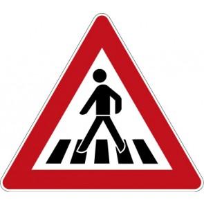 Verkehrzeichen Gefahrzeichen Fußgängerüberweg · Zeichen 101-11  · MAGNETSCHILD