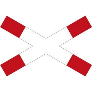 Aufkleber Vorschriftzeichen Andreaskreuz (liegend) · Zeichen 201
