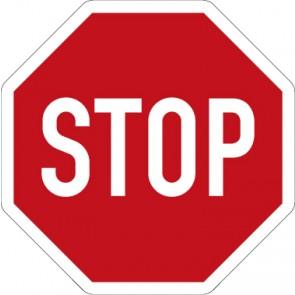 Aufkleber Vorschriftzeichen Halt! Vorfahrt gewähren! · Zeichen 206