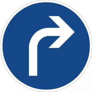 Fußbodenaufkleber Vorschriftzeichen Vorgeschriebene Fahrtrichtung, rechts · Zeichen 209