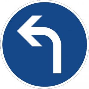 Aufkleber Vorschriftzeichen Vorgeschriebene Fahrtrichtung, links · Zeichen 209-10